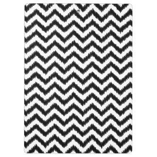 Ikat Chevron Black Pattern Zigzag Clipboard