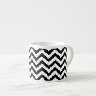 Ikat Chevron Black Pattern Zigzag Espresso Cup