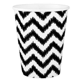 Ikat Chevron Black Pattern Zigzag Paper Cup