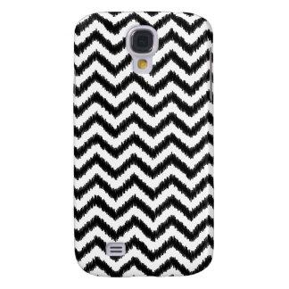 Ikat Chevron Black Pattern Zigzag Samsung Galaxy S4 Covers