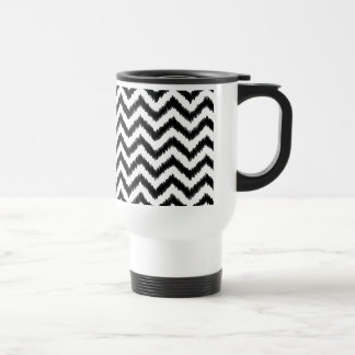 Ikat Chevron Black Pattern Zigzag Stainless Steel Travel Mug