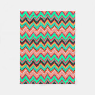 Ikat chevron fleece blanket