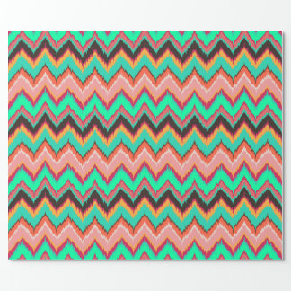 ikat chevron gift wrap wrapping paper