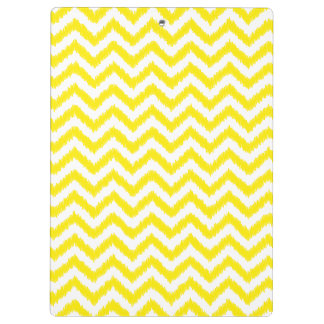 Ikat Chevron Sunny Yellow Pattern Zigzag Clipboards