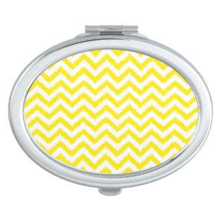 Ikat Chevron Sunny Yellow Pattern Zigzag Compact Mirrors
