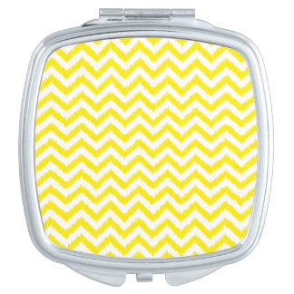 Ikat Chevron Sunny Yellow Pattern Zigzag Mirrors For Makeup