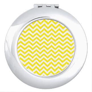 Ikat Chevron Sunny Yellow Pattern Zigzag Vanity Mirror