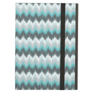 Ikat Chevron Zig Zags Green Gray Elegant Tribal iPad Air Case