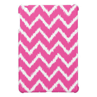 Ikat Chevrons - Deep fuchsia pink and white Cover For The iPad Mini