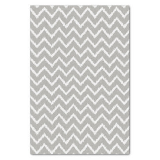 Ikat Chevrons - Silver grey and white Tissue Paper