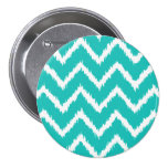 Ikat Chevrons - Turquoise and white Pins
