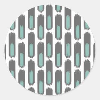 Ikat Diamond59 New Classic Round Sticker