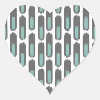 Ikat Diamond59 New Heart Sticker