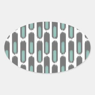 Ikat Diamond59 New Oval Sticker