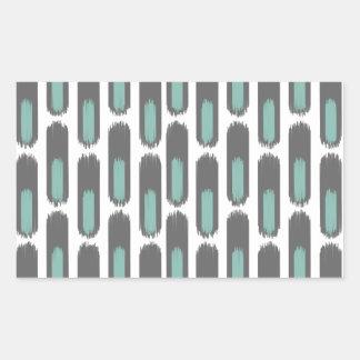 Ikat Diamond59 New Rectangular Sticker
