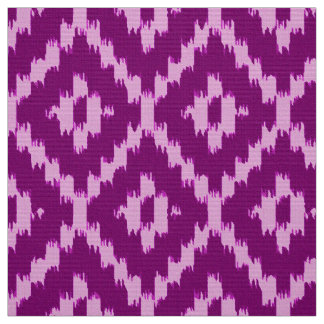Ikat Diamond Pattern - Amethyst purple and orchid Fabric