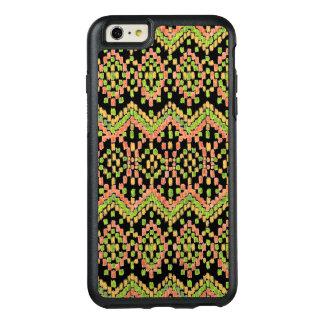 Ikat Ethnic Moorish Pattern on Black to Customize OtterBox iPhone 6/6s Plus Case