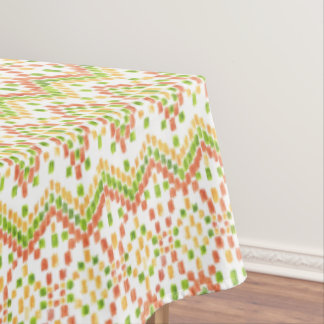 Ikat Ethnic Pattern on White to Customize Tablecloth