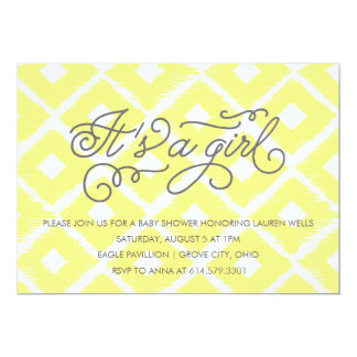 Ikat It's A Girl Baby Shower Invitation