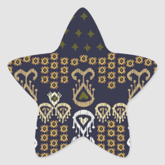 Ikat Modern Border Star Sticker