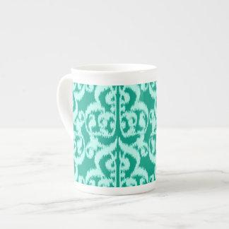 Ikat Moorish Damask - peacock and aqua Tea Cup