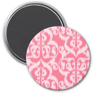 Ikat Moorish Damask - shades of coral pink Magnet