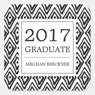 Ikat Pattern Graduation Stickers | Ebony
