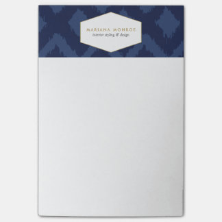 Ikat Pattern in Blue Designer Post-it Notes