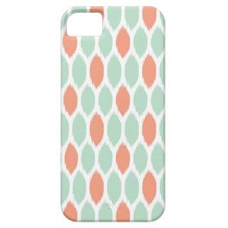 Ikat Polka Dot iPhone 5 Case Coral Teal Aqua