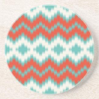 Ikat Print Coaster