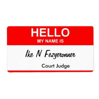 Ike N Fezyeronner Shipping Label