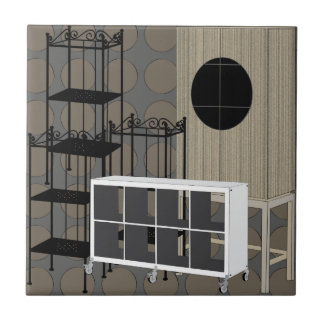 Ikea Furniture Shelves Brown Tile