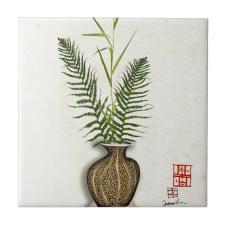 ikebana 14 by tony fernandes ceramic tile