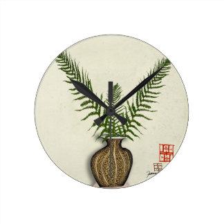 ikebana 17 by tony fernandes round clock
