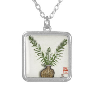 ikebana 17 by tony fernandes silver plated necklace