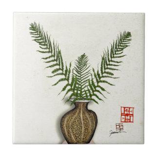 ikebana 17 by tony fernandes tile