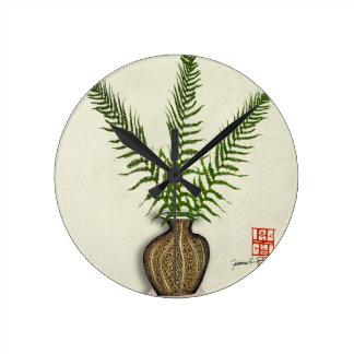 ikebana 18 by tony fernandes round clock