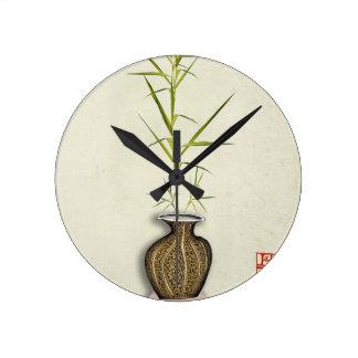 ikebana 19 by tony fernandes round clock