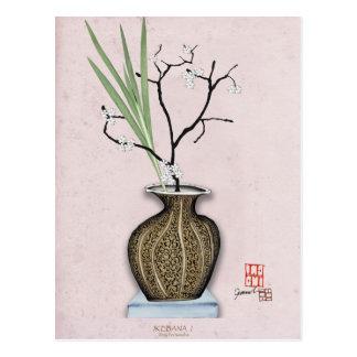 Ikebana 1 by tony fernandes postcard