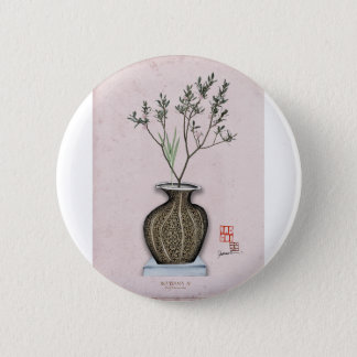Ikebana 4 by tony fernandes 6 cm round badge