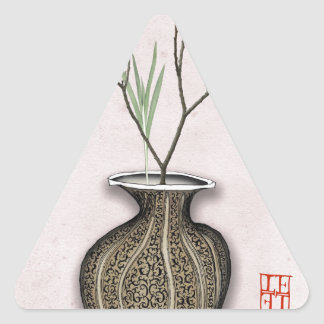 Ikebana 4 by tony fernandes triangle sticker