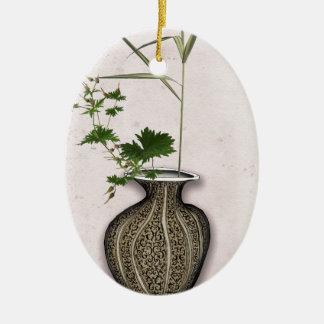 Ikebana 5 by tony fernandes ceramic ornament