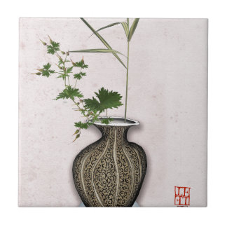 Ikebana 5 by tony fernandes ceramic tile