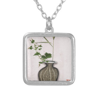 Ikebana 5 by tony fernandes silver plated necklace