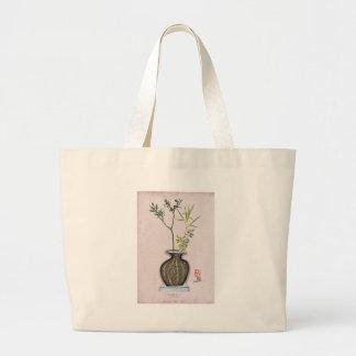 Ikebana 6 by tony fernandes large tote bag