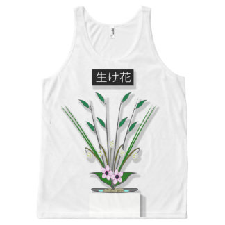 Ikebana All-Over Print Singlet