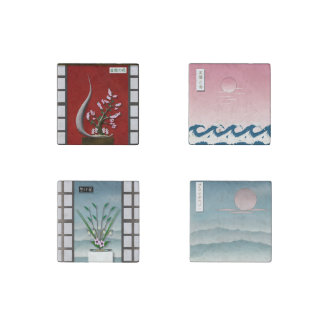 Ikebana and Others of Japan Stone Magnet
