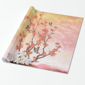 Ikebana display wrapping paper
