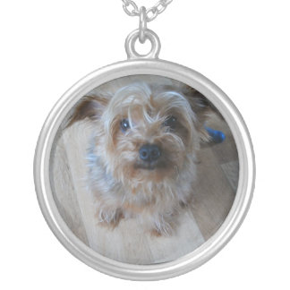 IKKLE DOGGIE SILVER PLATED NECKLACE