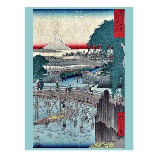 Ikkoku Bridge by Ando,Hiroshige Postcard